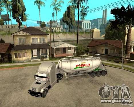 Patch remorque v_1 pour GTA San Andreas sur la vue arrière gauche
