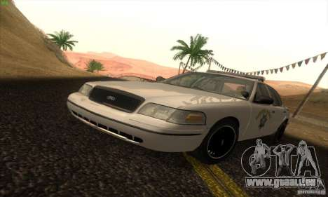 Ford Crown Victoria California Police für GTA San Andreas