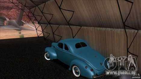 Ford Deluxe Coupe 1940 pour GTA San Andreas sur la vue arrière gauche