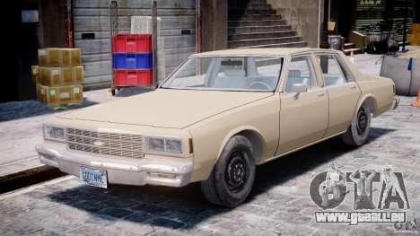 Chevrolet Impala 1983 pour GTA 4 est une gauche