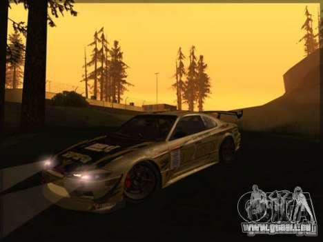 Nissan Silvia S15: Kei Office D1GP für GTA San Andreas linke Ansicht