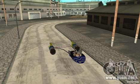 Star Wars Racer pour GTA San Andreas sur la vue arrière gauche