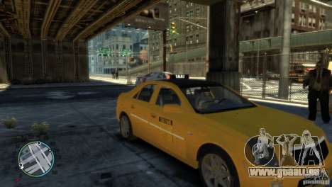 Cadillac CTS-V Taxi pour GTA 4 Vue arrière de la gauche
