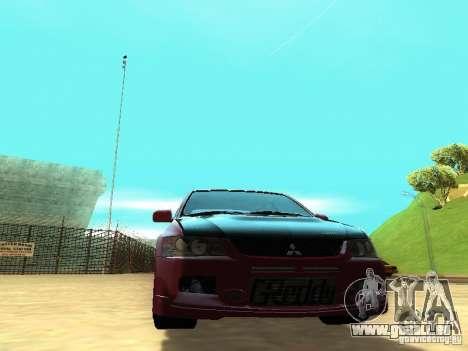 Mitsubishi Lancer IX MR pour GTA San Andreas vue arrière