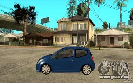 Citroen C2 - Stock pour GTA San Andreas laissé vue