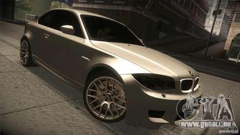 BMW 1M E82 Coupe 2011 V1.0 pour GTA San Andreas vue arrière