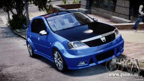 Dacia Logan 2008 [Tuned] pour GTA 4 est une vue de l'intérieur