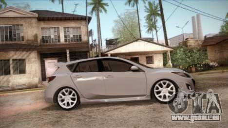Mazda Mazdaspeed3 2010 für GTA San Andreas obere Ansicht