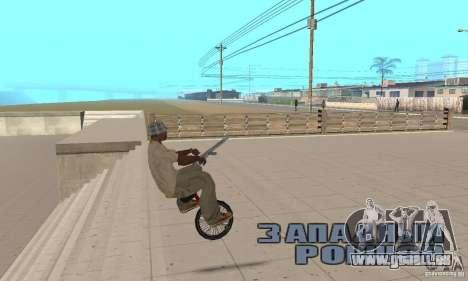 Unicycle für GTA San Andreas rechten Ansicht