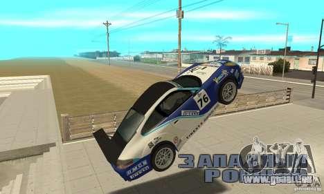Porsche 911 Le GRID pour GTA San Andreas vue intérieure