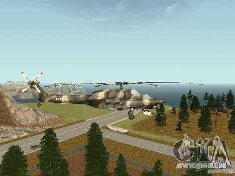 MI 28 HAVOC pour GTA San Andreas laissé vue