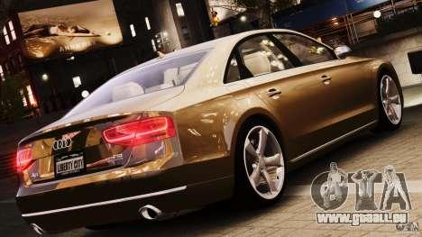 Audi A8 2010 V8 FSI für GTA 4 Rückansicht