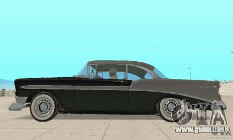Chevrolet Bel Air 1956 pour GTA San Andreas sur la vue arrière gauche