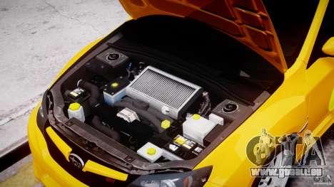 Subaru Impreza WRX STi 2011 Subaru World Rally für GTA 4 Innenansicht