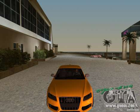 Audi S5 pour une vue GTA Vice City de la gauche