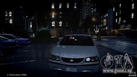 Chevrolet Impala Unmarked Police 2003 v1.0 [ELS] für GTA 4 Innen