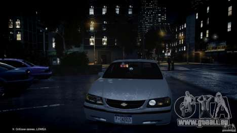 Chevrolet Impala Unmarked Police 2003 v1.0 [ELS] pour GTA 4 Salon
