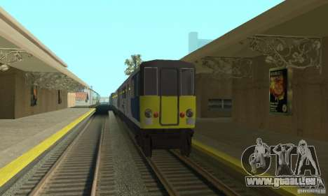 Cerberail Train für GTA San Andreas linke Ansicht