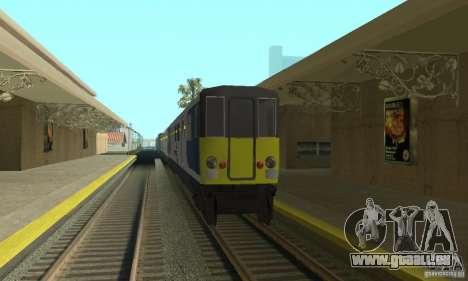 Cerberail Train pour GTA San Andreas laissé vue