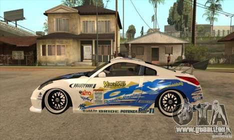 Nissan Z350 - Tuning pour GTA San Andreas laissé vue
