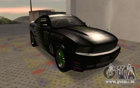 Ford Mustang GT Falken Monster 2010 v2.0 für GTA San Andreas linke Ansicht
