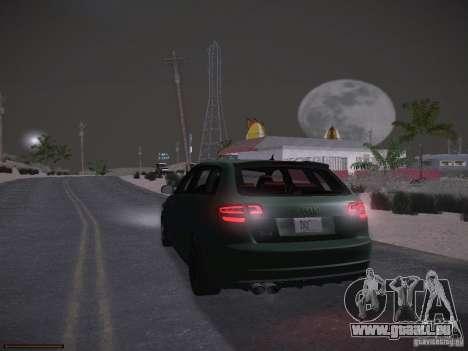 Audi RS3 2011 pour GTA San Andreas vue de dessous