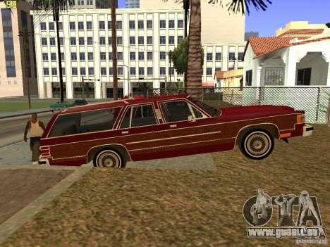 Mercury Grand Marquis Colony Park pour GTA San Andreas sur la vue arrière gauche