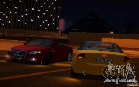 Audi A4 Cabrio pour GTA San Andreas vue de dessus
