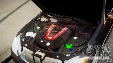 Mercedes-Benz S-Class W221 BRABUS SV12 für GTA 4 Rückansicht