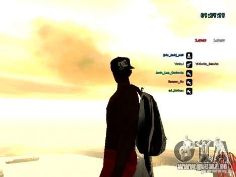 Sac à dos-parachute pour GTA: SA pour GTA San Andreas cinquième écran