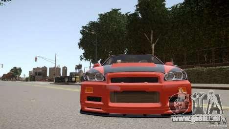 Nissan Skyline GT-R R34 Underground Style pour GTA 4 est un côté