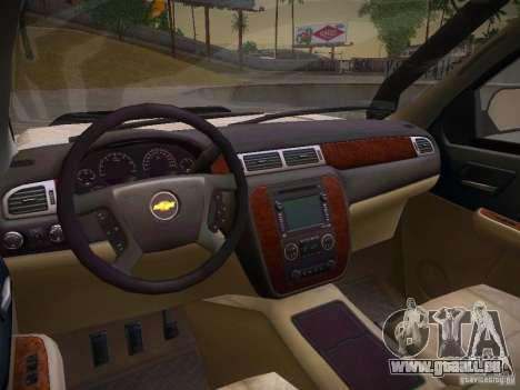 Chevrolet Silverado pour GTA San Andreas vue intérieure