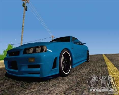Nissan Skyline R34 Z-Tune V3 pour GTA San Andreas vue de droite