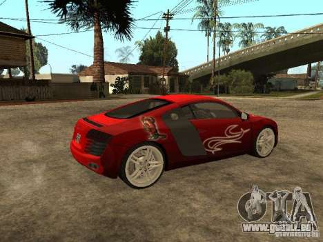 Audi R8 für GTA San Andreas Innen