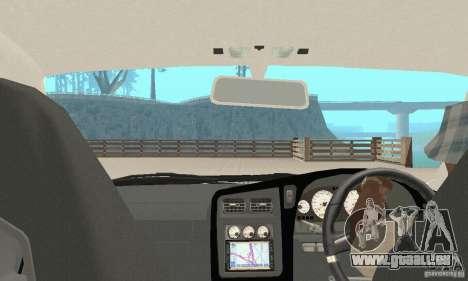 Nissan Stagea GTR pour GTA San Andreas vue de dessus