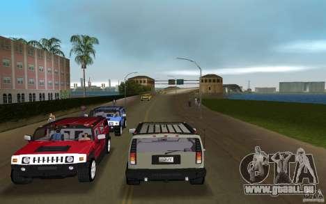 AMG H2 HUMMER pour GTA Vice City sur la vue arrière gauche