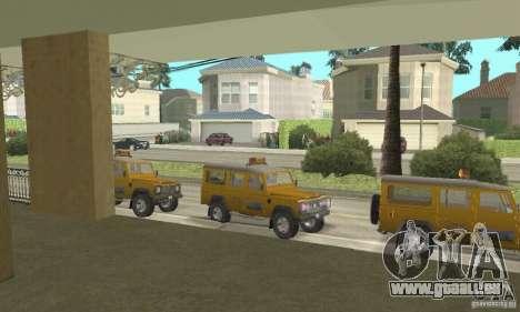 Land Rover Defender 110SW Taxi pour GTA San Andreas vue de droite