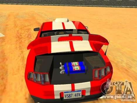 Ford Shelby GT500 für GTA San Andreas Motor