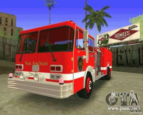 Pumper Firetruck Los Angeles Fire Dept für GTA San Andreas Innenansicht