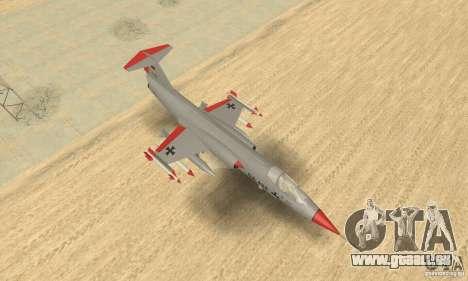 F-104 Starfighter Super (gris) pour GTA San Andreas vue de droite