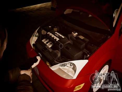 Ford Focus SVT 2003 pour GTA 4 est une vue de l'intérieur
