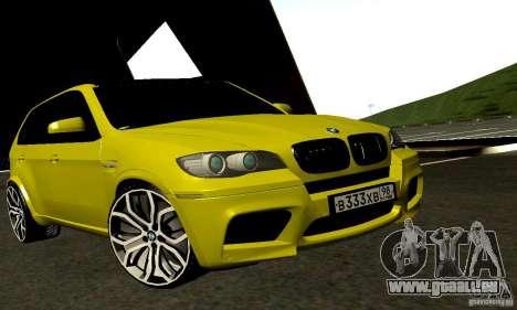 BMW X5M Gold für GTA San Andreas zurück linke Ansicht