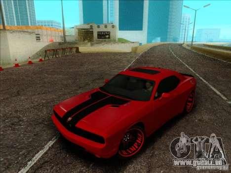 Dodge Quinton Rampage Jackson Challenger SRT8 v1 pour GTA San Andreas vue intérieure