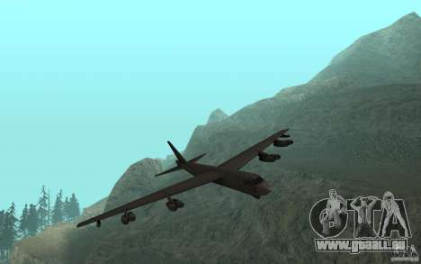 Boeing B-52 Stratofortress pour GTA San Andreas laissé vue