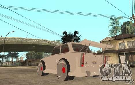 Trabant 601 Hardcore Tuning pour GTA San Andreas sur la vue arrière gauche