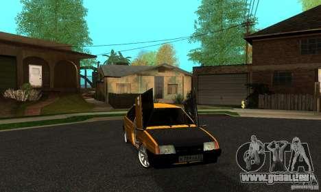 VAZ 2109 léger Tuning pour GTA San Andreas sur la vue arrière gauche
