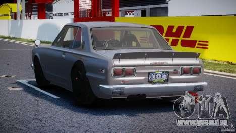 Nissan Skyline Hakosuka (KPGC10) Mountain Drift pour GTA 4 Vue arrière de la gauche