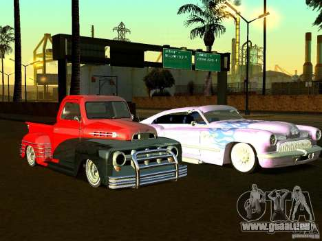 Ford Pick Up Custom 1951 LowRider für GTA San Andreas obere Ansicht