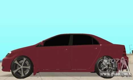 Toyota Corolla Tuning für GTA San Andreas zurück linke Ansicht