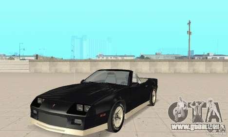 Chevrolet Camaro RS 1991 Convertible für GTA San Andreas